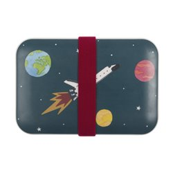 Childrens Bamboo Lunch Box - Space
