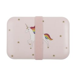 Childrens Bamboo Lunch Box - unicorn