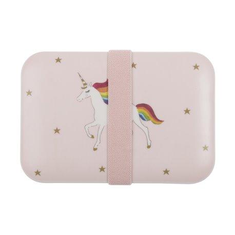 Childrens Bamboo Lunch Box - unicorn