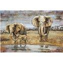 CADRE METAL ELEPHANTS