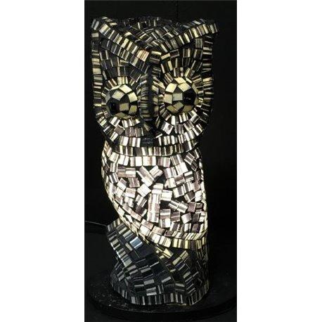 Lampe hibou gris 30cm