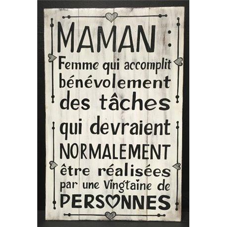 panneau 60x40cm Maman : Femme qui