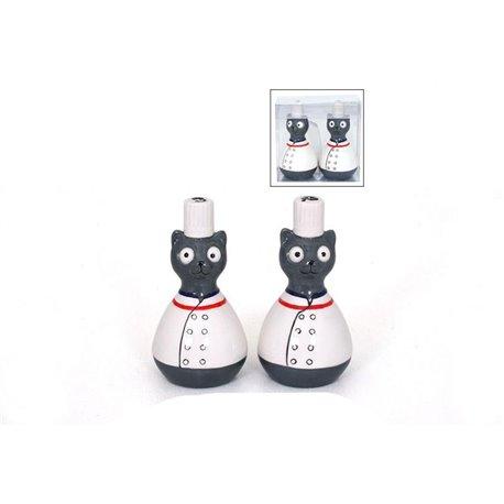 SET S/P CHAT CHEF DANS BOITE PVC 'CAT'