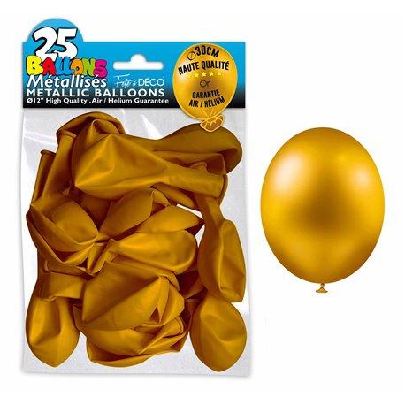 SACHET 25 BALLONS METAL OR