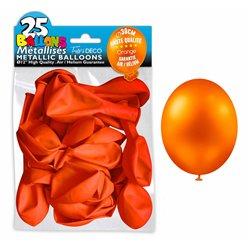 SACHET 25 BALLONS METAL ORANGE