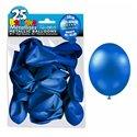 SACHET 25 BALLONS METAL BLEU MARINE