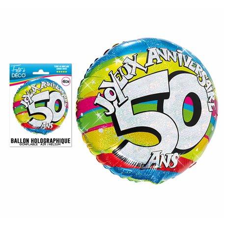 BALLON HELIUM 50 ANS