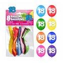SACHET 8 BALLONS 18 ANS