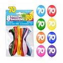 SACHET 8 BALLONS 70 ANS