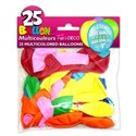 SACHET 25 BALLONS COULEURS ASSORTIES