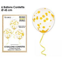 BALLONS CONFETTIS X6 OR
