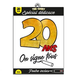 TEE SHIRT ON SIGNE S2/20ANS