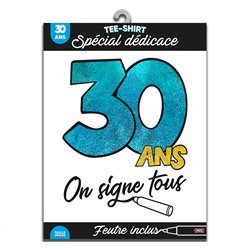 TEE SHIRT ON SIGNE S2/30ANS