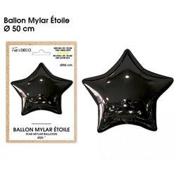 BALLON METALLIQUE ETOILE NOIR