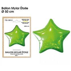 BALLON METALLIQUE ETOILE VERT