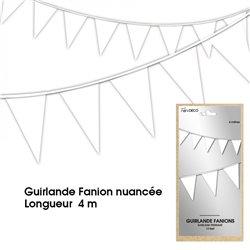 GUIRLANDE FANION NUANCE BLANCHE