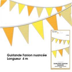 GUIRLANDE FANION NUANCE JAUNE