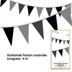 GUIRLANDE FANION NUANCE NOIRE