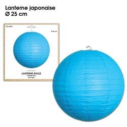 LANTERNES JAPONAISE DIAM 25CM BLEUE