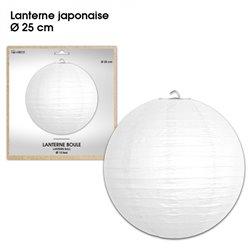 LANTERNES JAPONAISE DIAM 25CM BLANCHE