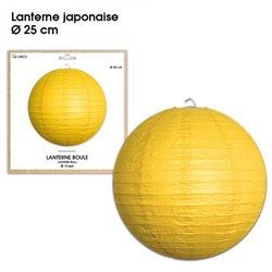 LANTERNES JAPONAISE DIAM 25CM JAUNE