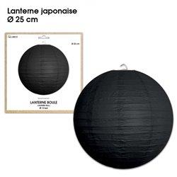 LANTERNES JAPONAISE DIAM 25CM NOIR