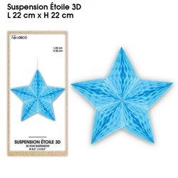 SUSPENSION ETOILE 3D BLEUE