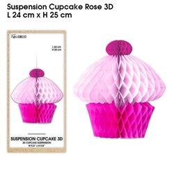 SUSPENSION CUPCAKE 3D FUCHSIA