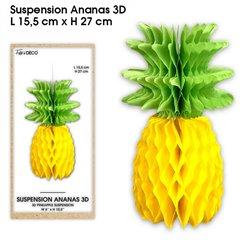SUSPENSION ANANAS 3D JAUNE