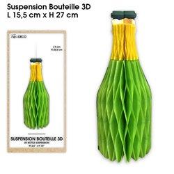 SUSPENSION BOUTEILLE 3D VERTE