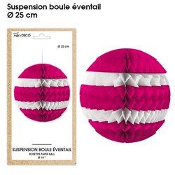 SUSPENSION BOULE EVENTAIL FUCHSIA