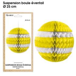 SUSPENSION BOULE EVENTAIL JAUNE