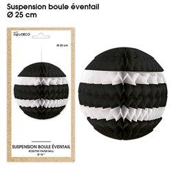 SUSPENSION BOULE EVENTAIL NOIRE