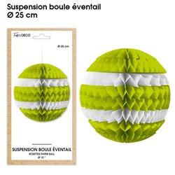 SUSPENSION BOULE EVENTAIL VERTE