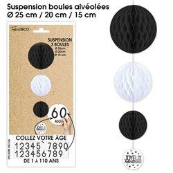 SUSPENSION 3 BOULES TOUS AGE NOIRE