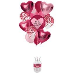 Réservoir Hélium Balloongaz 30 'Love' avec Ballons et Ruban