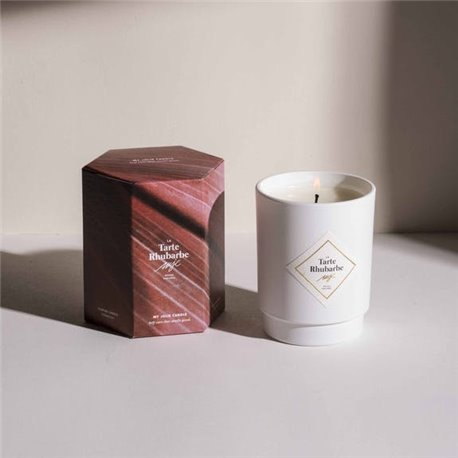 Bougie parfumée 50h - La Tarte Rhubarbe